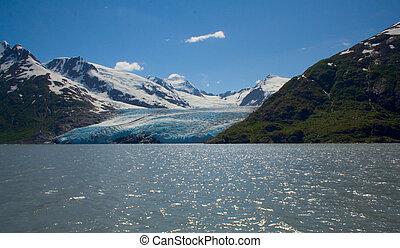 Portage Glacier in Girdwood, Alaska - Portage Glacier near...