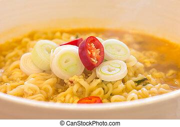 Korean Noodles closeup