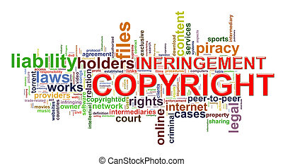 Copyright infringement wordcloud - Illustration of word tags...