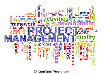 Project management word tags - Illustration of project...