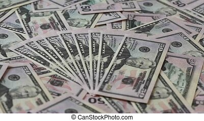 Fifty dollars banknotes background for business design