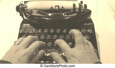 antique typewriter in video - an antique video real rendered...