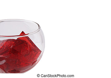 Red Gelatin in a Glass