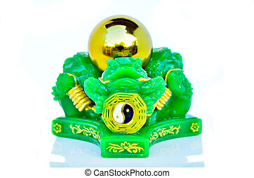 Chinese feng shui lucky money frog