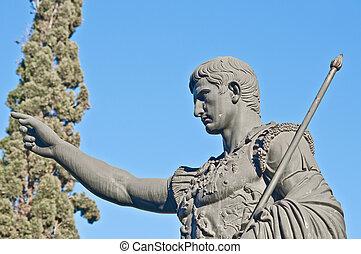 Caesar Augustus statue at Zaragoza, Spain - Roman Emperor...
