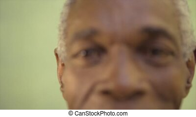 Portrait of elderly black man - Old people and emotions,...