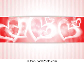 Vector banner with hearts