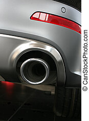 exhaust pipe and back part of car - exhaust pipe and back...