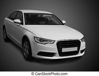 Auto, weißes, Luxus