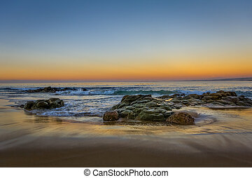 California Gold Sunset at Monterey Bay