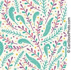 Floral holiday seamless pattern