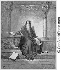 King Solomon - Picture from The Holy Scriptures, Old and New...