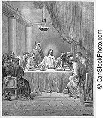 The Last Supper - Picture from The Holy Scriptures, Old and...