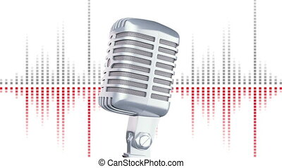 Retro microphone - Retro Microphone with equalizer ,HD 1080...