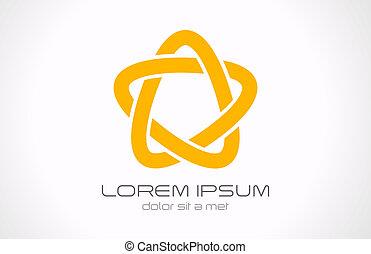 Star infinite loop icon - Logo Star infinite loop abstract....