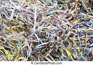 Paper shreds - Background of shredded paper used for packing...