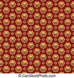 Flourish background - Floral pattern. Seamless texture....