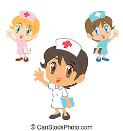 nurse ,cartoon character