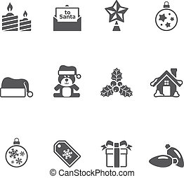 Single Color Icons - More Christmas - Christmas icon in...