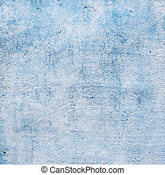 Abstract blue background or paper with bright center spotlight and dark border frame with grunge background texture