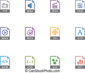Duotone Icons - File Formats 13 - File format icon series in...
