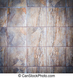 Square shot of colorful marble tiles, dark edges
