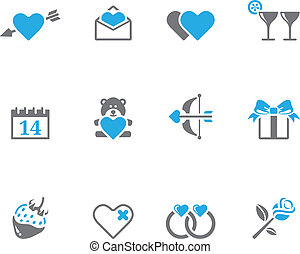 Duotone Icons - Love - Valentine related items icon series...