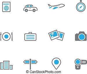 Duotone Icons - Travel - Travel icon series in duo tone...