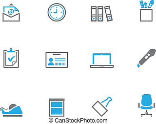 Duotone Icons - More Office - Office icon series in duo tone...