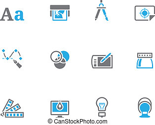 Duotone Icons - Printing and Design - Printing graphic...