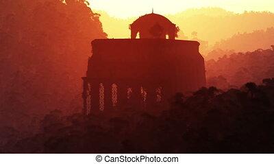 Lost City 1 - The Lost City Deep in the Jungle Fantasy Scene...