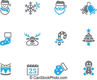 Duotone Icons - Christmas - Christmas icon in duo tone color...