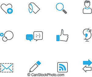 Duotone Icons - Social Network - Social network icon series...