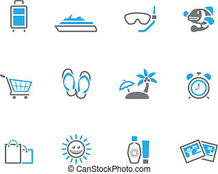 Duotone Icons - More Travel - Travel icon set in duo tone...