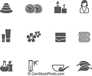 Single Color Icons - Spa - Spa related icon series in single...