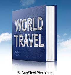 mundo, viaje, concepto