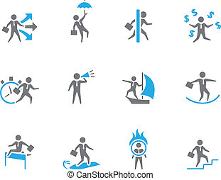 Duotone Icons - Businessman - Businessman icon in various...