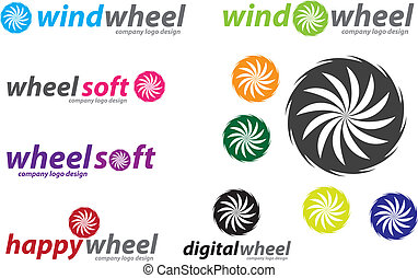 Wind Wheel Company Logo Design - Vector image for various...