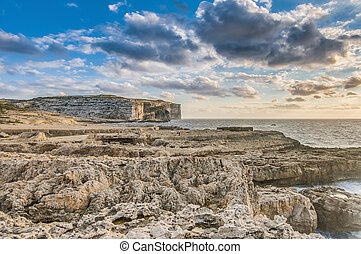 Dwajra Bay in Gozo Island, Malta. - Dwajra Bay in the...