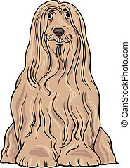 bearded collie dog cartoon illustration - Cartoon...