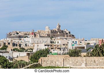 Cathedral in Rabat (Victoria), Gozo Island, Malta. -...