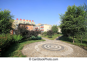 concentric circles landscape in a park