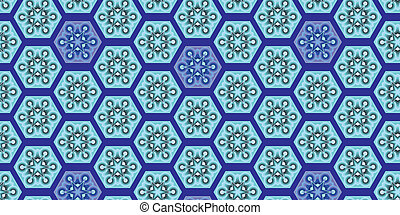 seamless pattern with abstract blue