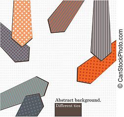 Different tiers - Vector art Set of different ties Vintage...