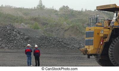 minería, basurero, Camiones, abierto, Hoyo