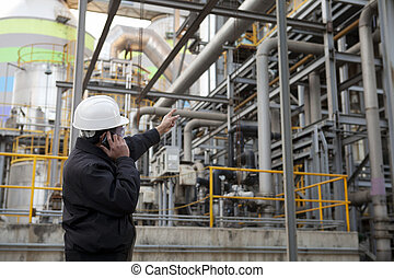 raffinerie, huile, ingénieur