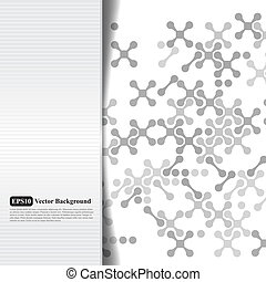 Abstract grayscale card with crosses