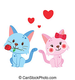 illustration of a pair of cat huddled together