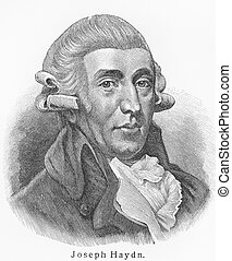 Joseph Haydn - Picture from Meyers Lexicon books written in...