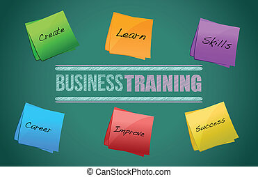 business training colorful diagram graphic illustration...